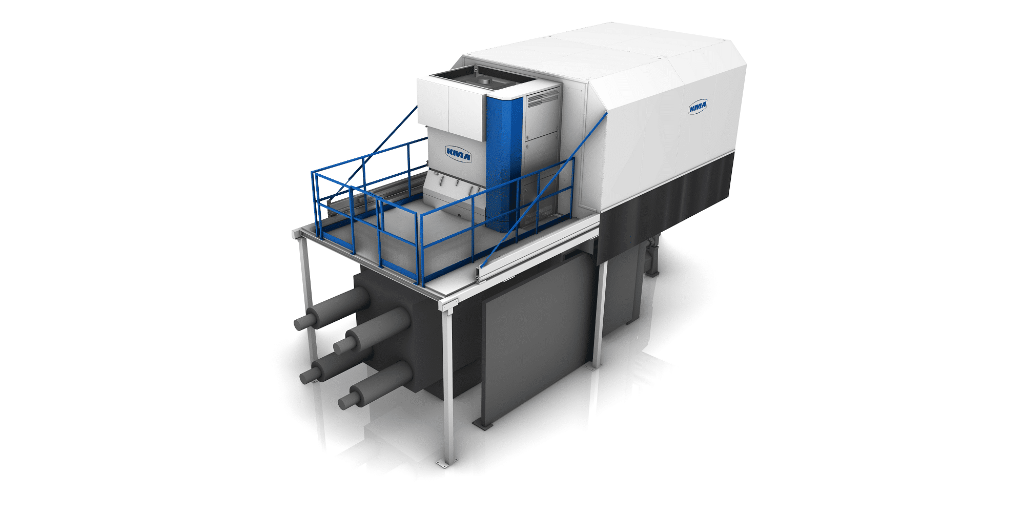 KMA ULTRAVENT Filtersystem und Absaughaube über der Druckgießmaschine