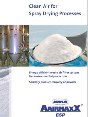 Clean air for spray drying process
