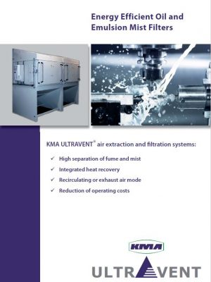 Energy efficient oil and emulsion mist filters for the metal industry