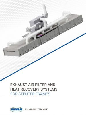 heat recovery and exhaust air filtration for stenter frames