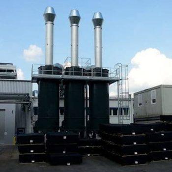 Gummiwerk Kraiburg installs a KMA hybrid filter system consisting of electrostatic precipitator, heat exchanger and fine coal filter.