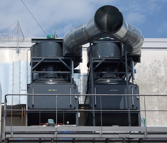 The KMA AAIRMAXX® can be installed outside of the production plant upon request.