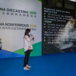 Sales Manager of KMA Shanghai gives a presentation at the CHINA DIECASTING 2020