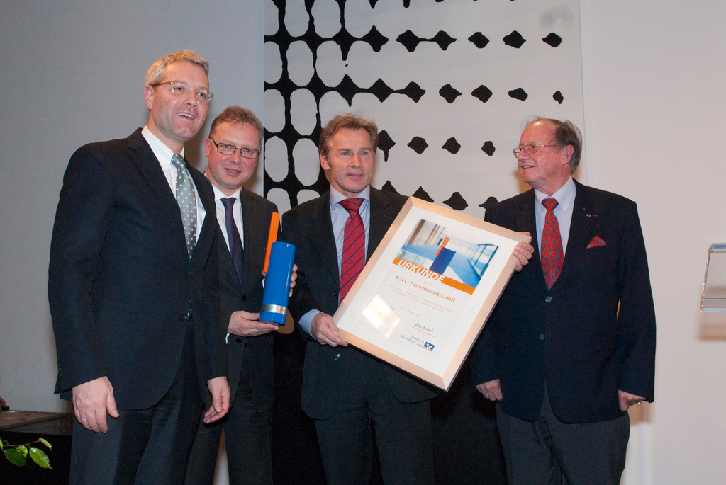 KMA Umwelttechnik has been awarded for its highly efficient KMA hybrid filter system