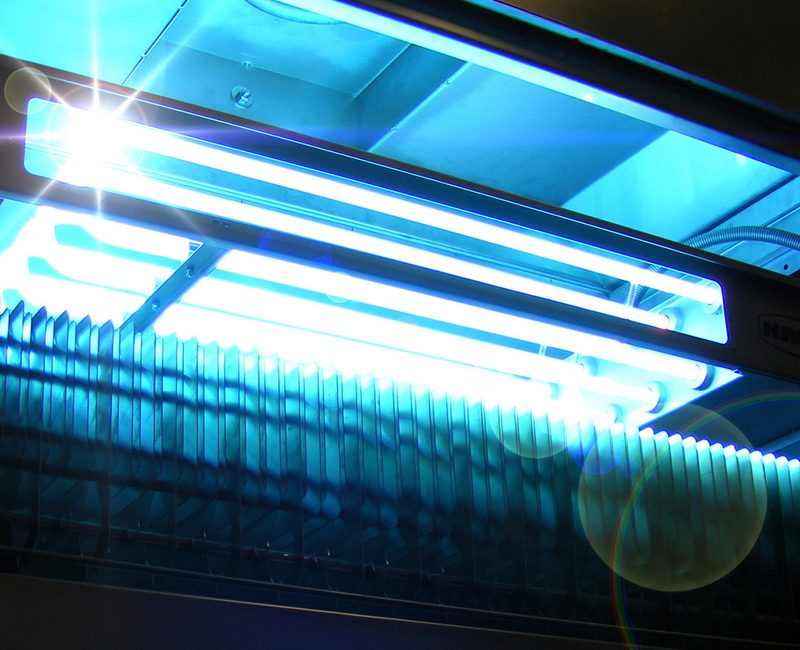 The KMA UV light is used for efficient odor removal in industries