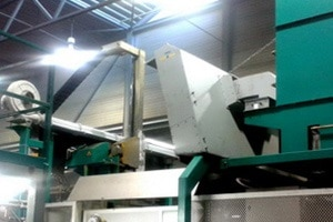 KMA Ultravent Air curtain system above die casting machine